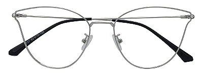Armação Óculos Receituário AT 8027 Prata