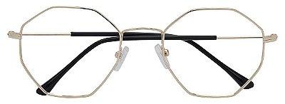 Armação Óculos Receituário AT HX9903 Dourado Hexagonal