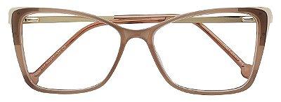 Armação Óculos Receituário AT 98147 Marrom Acinzentado