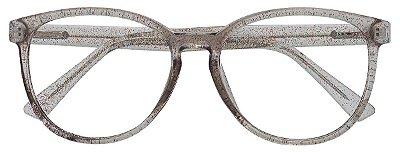 Armação Óculos Receituário AT 2021 Marfim Glitter