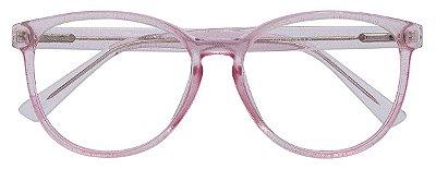 Armação Óculos Receituário AT 2021 Rosa Glitter
