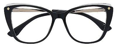 Armação Óculos Receituário AT 7006 Preto