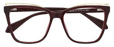 Armação Óculos Receituário AT 7001 Vinho
