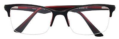 Armação Óculos Receituário AT 409 Preto/Vermelho