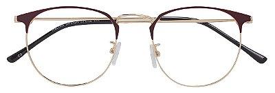 Armação Óculos Receituário AT 9121 Marrom/Dourado