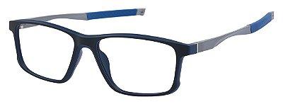 Armação Óculos Receituário AT 5827 Azul/Prata