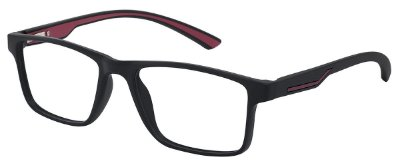Armação Óculos Receituário AT 1025 Preto/Vermelho