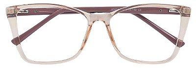 Armação Óculos Receituário AT 2041 Champagne Transparente