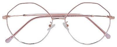 Armação Óculos Receituário AT 981 Rosa/Branco