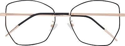 Armação Óculos Receituário AT 934 Preto/Dourado
