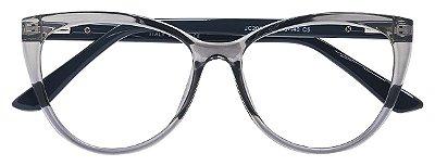 Armação Óculos Receituário AT 2084 Cinza Transparente