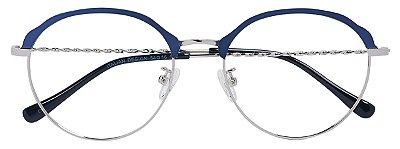 Armação Óculos Receituário AT 9130 Azul/Prata