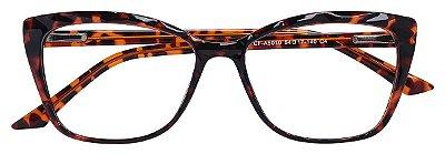 Armação Óculos Receituário AT 5010 Mosaico Quadrado Tartaruga