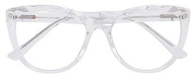 Armação Óculos Receituário AT 102 Mosaico Redondo Transparente
