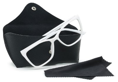 Case Estojo Sintético Com Botão para Óculos Receituário e Solar