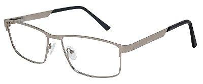 Armação Óculos Receituário AT 8438 Prata