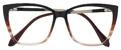 Armação Óculos Receituário AT 98003 Marrom Degradê