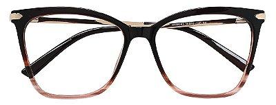Armação Óculos Receituário AT 98005 Marrom Mesclado