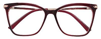 Armação Óculos Receituário AT 98005 Vinho