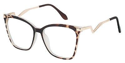 Armação Óculos Receituário AT 98006 Animal Print
