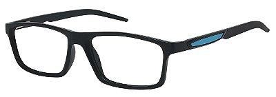Armação Óculos Receituário AT 1059 Preto/Azul
