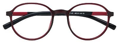 Armação Óculos Receituário AT 1051 Vinho