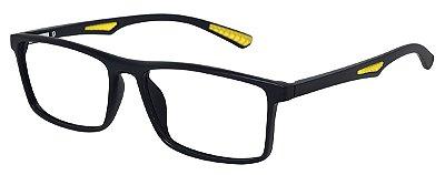 Armação Óculos Receituário AT 1067 Preto/Amarelo