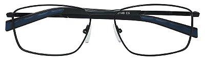 Armação Óculos Receituário AT 1006 Preto/Azul
