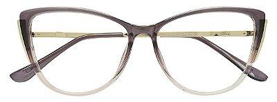 Armação Óculos Receituário AT 5012 Lilás Degradê Transparente