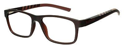 Armação Óculos Receituário AT 1065 Marrom