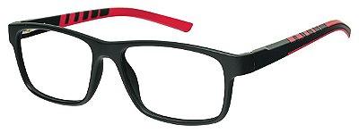 Armação Óculos Receituário AT 1065 Preto/Vermelho