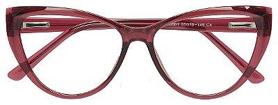 Armação Óculos Receituário AT 66001 Vinho Transparente