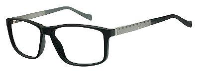 Armação Óculos Receituário AT 2072 Preto/Prata