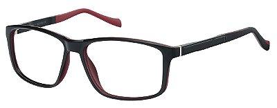 Armação Óculos Receituário AT 2072 Preto/Vermelho
