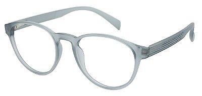 Armação Óculos Receituário AT 1044 Cinza Transparente