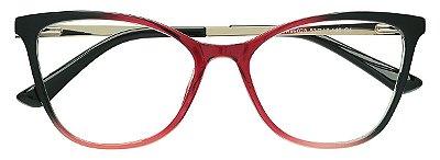 Armação Óculos Receituário AT 99028 Vermelho Degradê