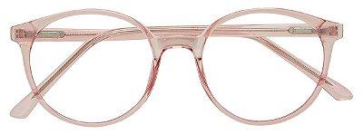 Armação Óculos Receituário AT 1041 Rosé Transparente