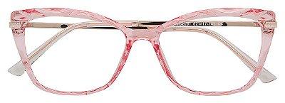 Armação Óculos Receituário AT 2091 Mosaico Rosé Transparente