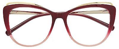 Armação Óculos Receituário AT 7002 Vermelho Degradê