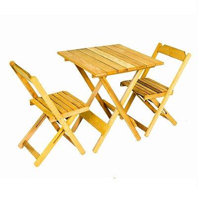 Conjunto de Mesa e 02 Cadeiras Dobráveis Itaúba