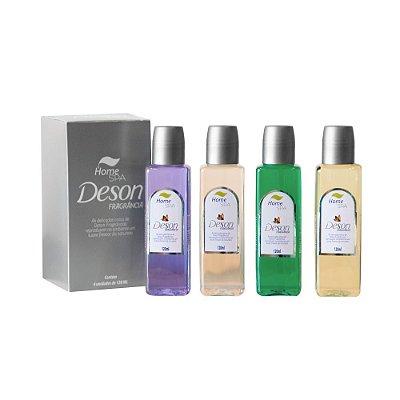 Deson Fragrância - Lavander, Eucalyptus, Lemon e Pine - Odorizante De Ambiente - Caixa com 4 Und - 120ml