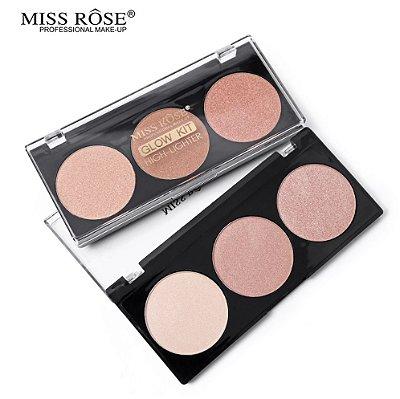 Paleta de Iluminador com 3 Cores Miss Rôse