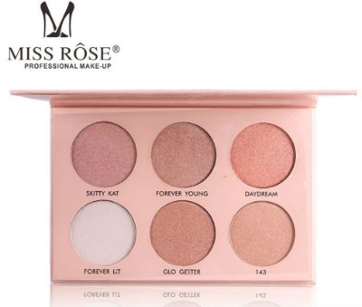 Paleta de Iluminador com 6 Cores Miss Rôse