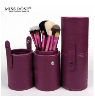 Kit de Pincel Miss Rosê 12 Peças Roxo