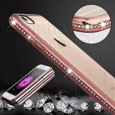 Capa de Silicone Diamond Lux Bumper - Cores Sortidas
