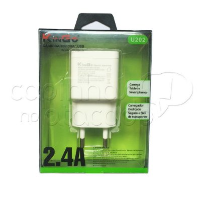 Fonte Carregador Dual USB Linha Premium - KinGo