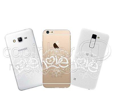 Capa Personalizada Premium - Love White