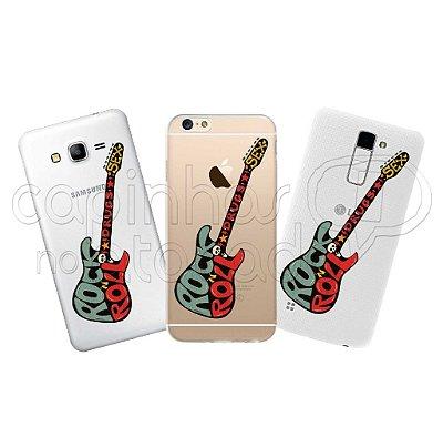 Capa Personalizada Premium - Rock'n Roll Guitarra