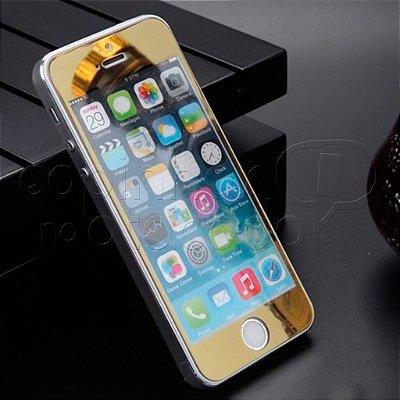 Película de Vidro Espelhada para Celulares iPhone - Dourada