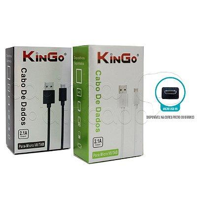 Cabo de Dados Micro USB / V8 Linha Premium - KinGo
